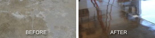Extreme Floor Coating before and after garage floor