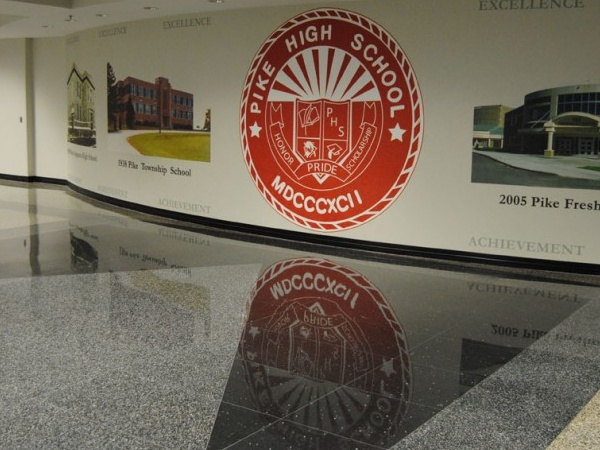 Indianapolis Pike High School Results Terrazzo Restoration Pike High School Indianapolis Pike