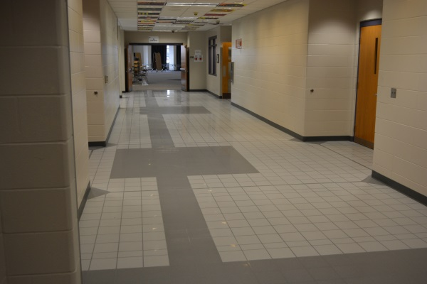 Brownsburg Middle School West New Hybrid Floor Tile