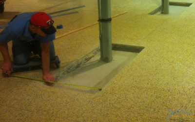 measuring for Terrazzo Floor Repair