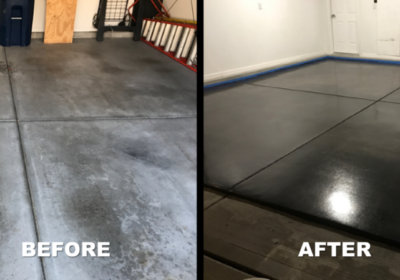 Results Indianapolis Garage Concrete Floor Polishing