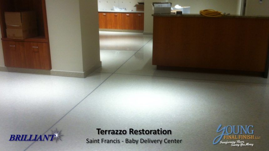 baby delivery center - terrazzo restoration 2
