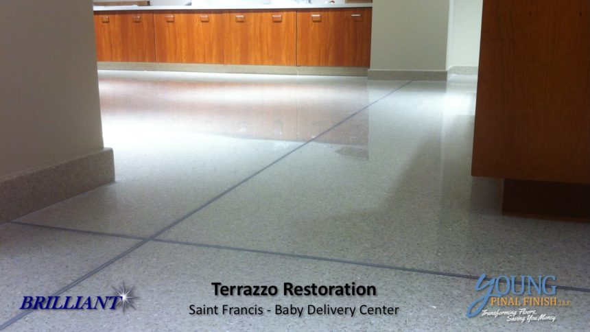 baby delivery center - terrazzo restoration 3