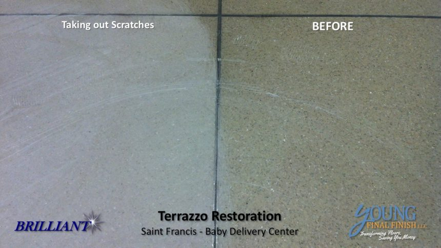 baby delivery center - terrazzo restoration