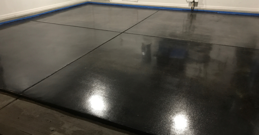 Charcoal Stain And Concrete Coating