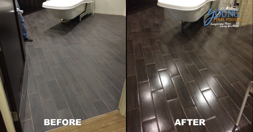 hospice center tile cleaning and coating