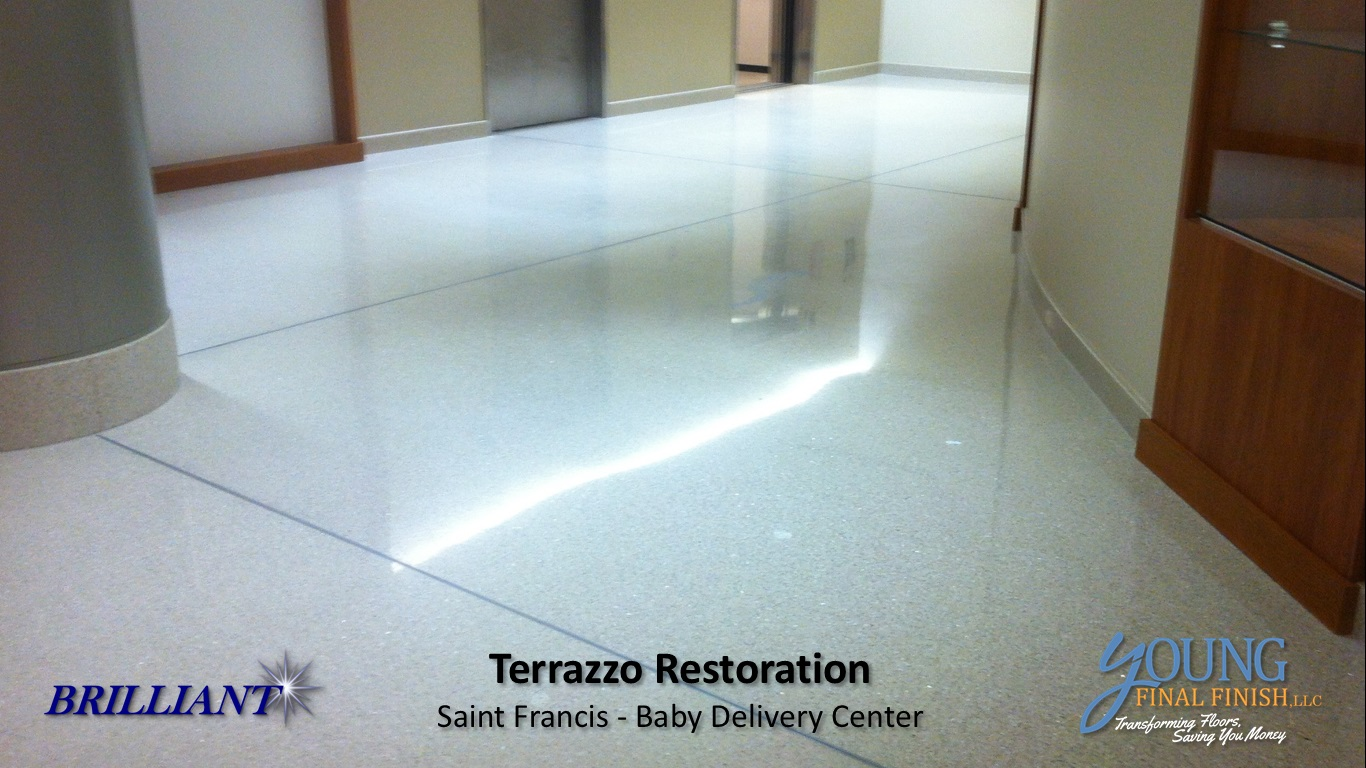 baby delivery center - terrazzo restoration 6